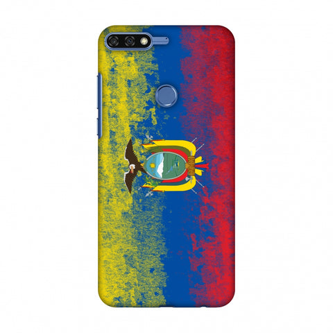 Love For Ecuador Slim Hard Shell Case For Huawei Honor 7C