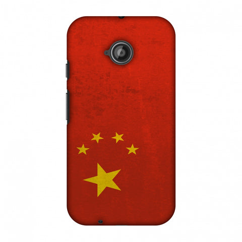 Love For China Slim Hard Shell Case For Motorola Moto E 2nd Gen
