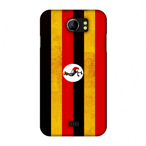Love For Uganda Slim Hard Shell Case For Micromax Canvas 2 A110