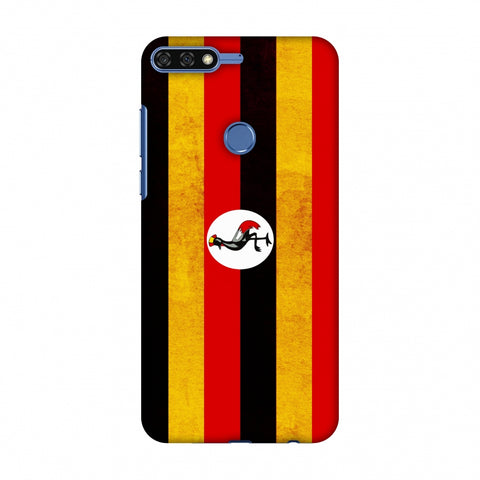 Love For Uganda Slim Hard Shell Case For Huawei Honor 7C