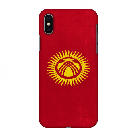 Love For Kyrgyz Republic Slim Hard Shell Case For Apple iPhone X