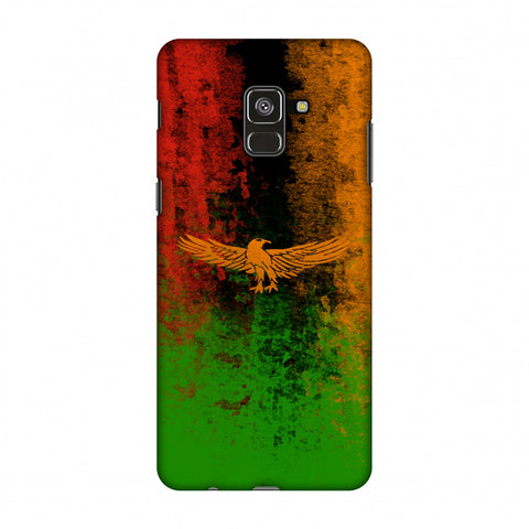 Love For Zambia Slim Hard Shell Case For Samsung Galaxy A8 Plus