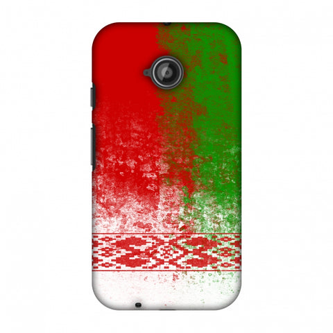 Love For Belarus Slim Hard Shell Case For Motorola Moto E 2nd Gen