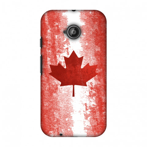 Love For Canada Slim Hard Shell Case For Motorola Moto E 2nd Gen