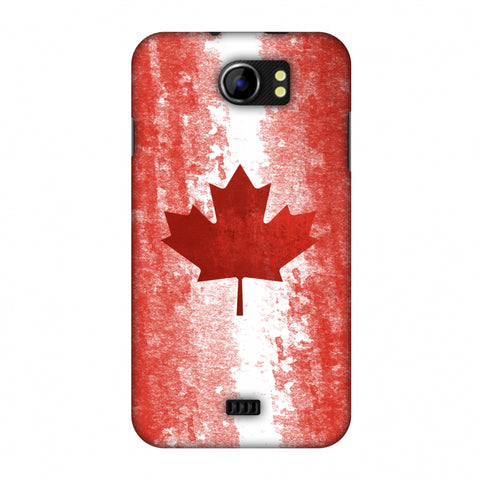 Love For Canada Slim Hard Shell Case For Micromax Canvas 2 A110