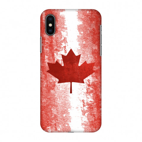 Love For Canada Slim Hard Shell Case For Apple iPhone X
