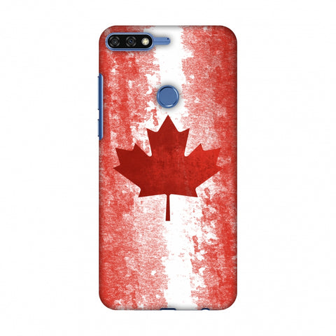 Love For Canada Slim Hard Shell Case For Huawei Honor 7C