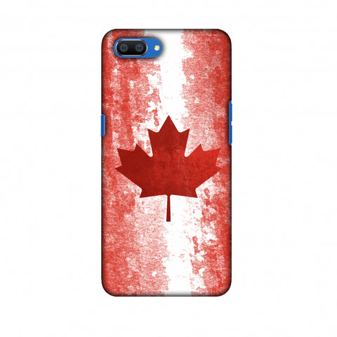 Love For Canada Slim Hard Shell Case For Oppo Realme C1