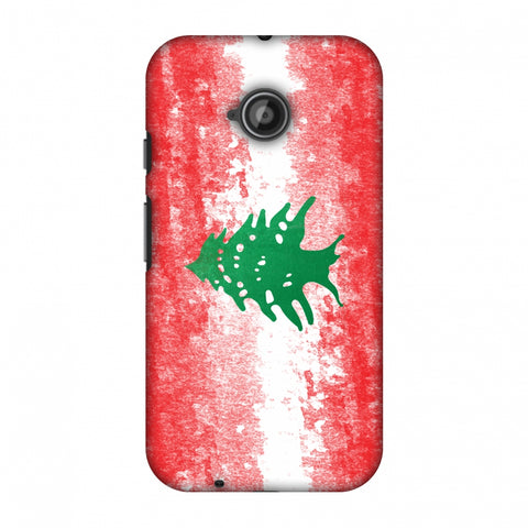 Love For Lebanon Slim Hard Shell Case For Motorola Moto E 2nd Gen