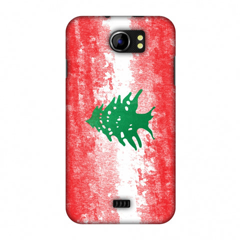 Love For Lebanon Slim Hard Shell Case For Micromax Canvas 2 A110