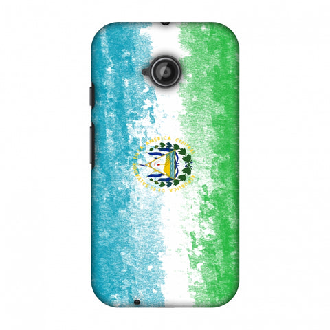 Love For El Salvador Slim Hard Shell Case For Motorola Moto E 2nd Gen