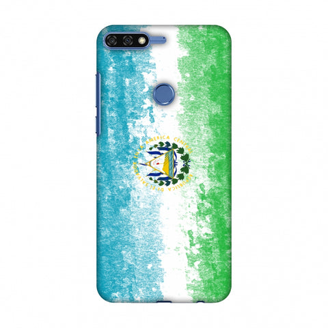 Love For El Salvador Slim Hard Shell Case For Huawei Honor 7C