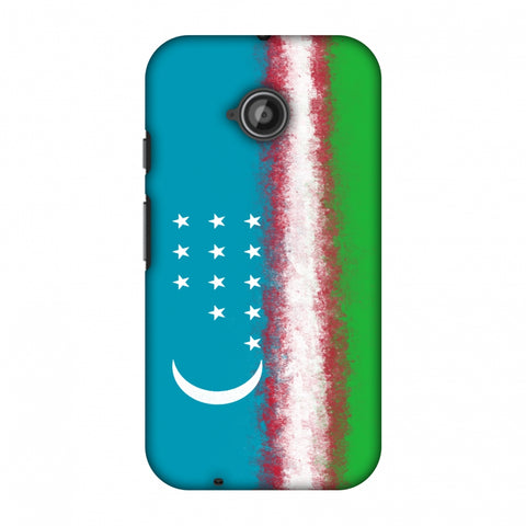 Love For Uzbekistan Slim Hard Shell Case For Motorola Moto E 2nd Gen