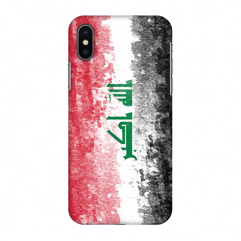 Love For Iraq Slim Hard Shell Case For Apple iPhone X