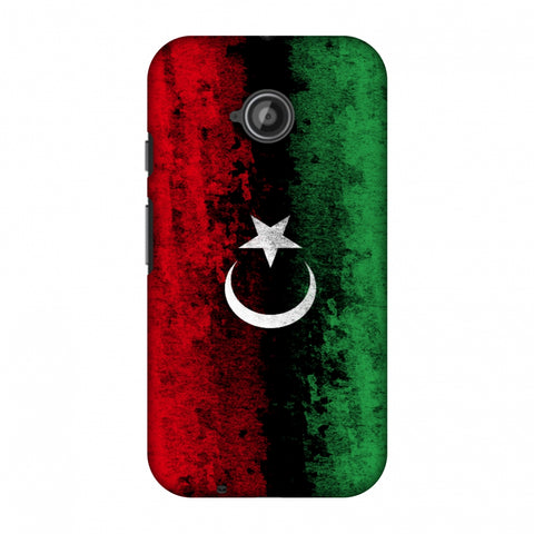 Love For Libya Slim Hard Shell Case For Motorola Moto E 2nd Gen