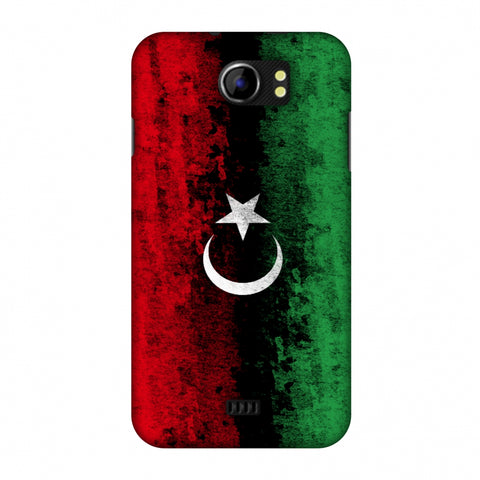 Love For Libya Slim Hard Shell Case For Micromax Canvas 2 A110