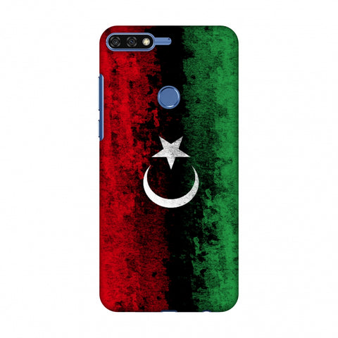 Love For Libya Slim Hard Shell Case For Huawei Honor 7C