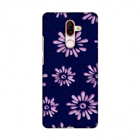 Batik Dyeing Florals - Indigo And Ivory Slim Hard Shell Case For Nokia 7 Plus