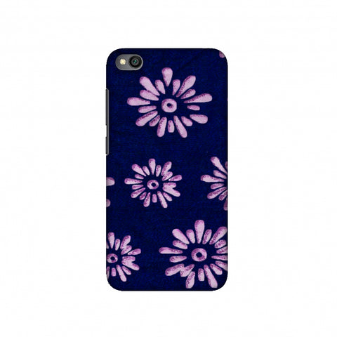 Batik Dyeing Florals - Indigo And Ivory Slim Hard Shell Case For Redmi Go