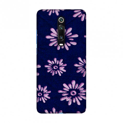 Batik Dyeing Florals - Indigo And Ivory Slim Hard Shell Case For Redmi K20/K20 Pro