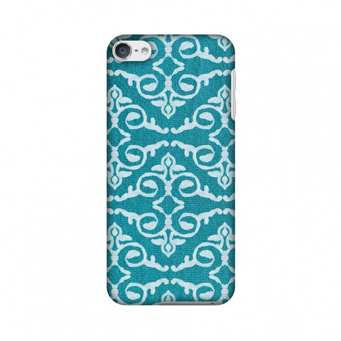 Batik Dyeing Art Deco - Aquamarine Slim Hard Shell Case For Apple iPod Touch