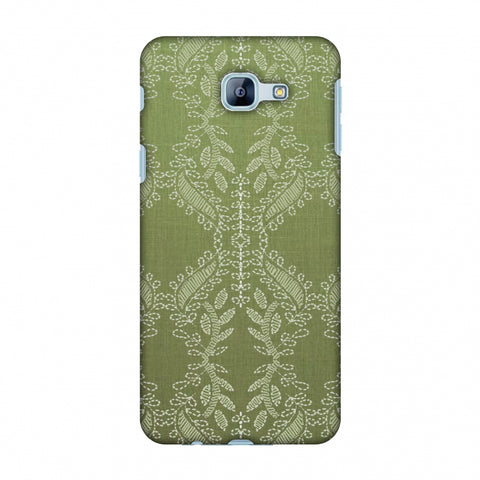 Chikankari Vines Repeats - Olive green Slim Hard Shell Case For Samsung Galaxy A8 2016