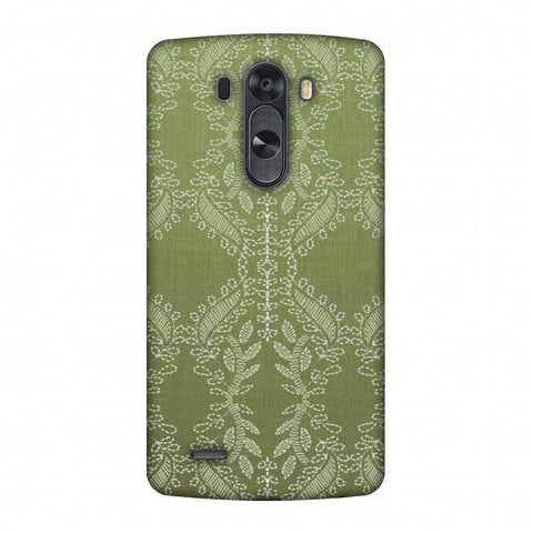 Chikankari Vines Repeats - Olive green Slim Hard Shell Case For LG G4