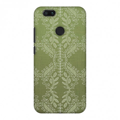 Chikankari Vines Repeats - Olive green Slim Hard Shell Case For Xiaomi MI A1-5X