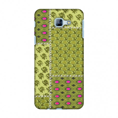 Patchwork - Woven Fabrics - Olive Green Slim Hard Shell Case For Samsung Galaxy A8 2016