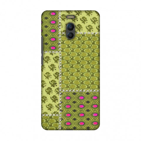 Patchwork - Woven Fabrics - Olive Green Slim Hard Shell Case For Meizu Note 6