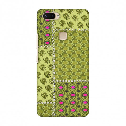 Patchwork - Woven Fabrics - Olive Green Slim Hard Shell Case For Vivo X20 Plus