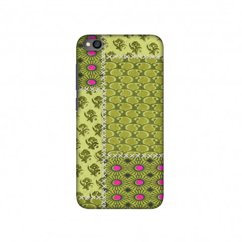 Patchwork - Woven Fabrics - Olive Green Slim Hard Shell Case For Redmi Go