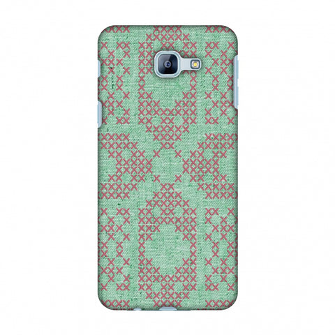 Cross Stitch Geometrics - Teal And Pink Slim Hard Shell Case For Samsung Galaxy A8 2016