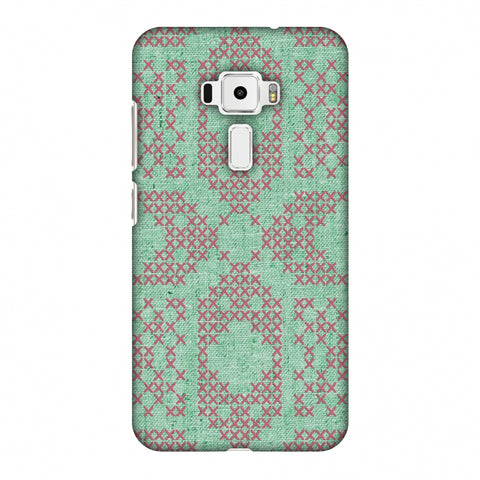 Cross Stitch Geometrics - Teal And Pink Slim Hard Shell Case For Asus Zenfone 3 ZE520KL