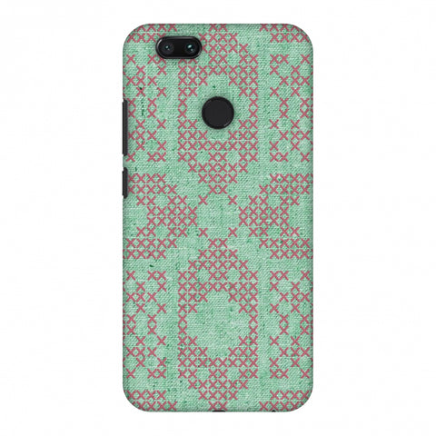 Cross Stitch Geometrics - Teal And Pink Slim Hard Shell Case For Xiaomi MI A1-5X