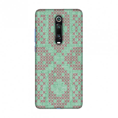 Cross Stitch Geometrics - Teal And Pink Slim Hard Shell Case For Redmi K20/K20 Pro