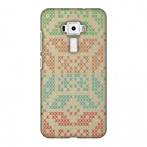 Cross Stitch Geometrics - Multicoloured Slim Hard Shell Case For Asus Zenfone 3 ZE520KL
