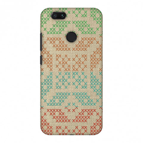 Cross Stitch Geometrics - Multicoloured Slim Hard Shell Case For Xiaomi MI A1-5X
