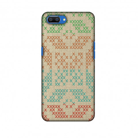 Cross Stitch Geometrics - Multicoloured Slim Hard Shell Case For Oppo Realme C1