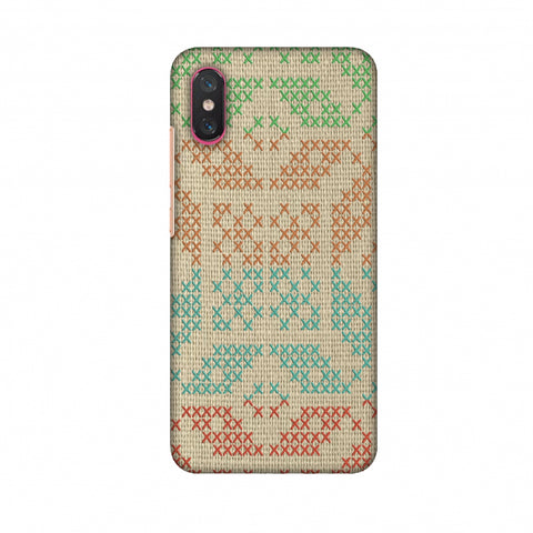 Cross Stitch Geometrics - Multicoloured Slim Hard Shell Case For Xiaomi Mi 8 Pro