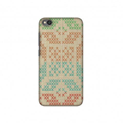 Cross Stitch Geometrics - Multicoloured Slim Hard Shell Case For Redmi Go