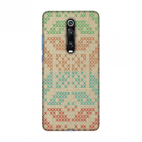 Cross Stitch Geometrics - Multicoloured Slim Hard Shell Case For Redmi K20/K20 Pro