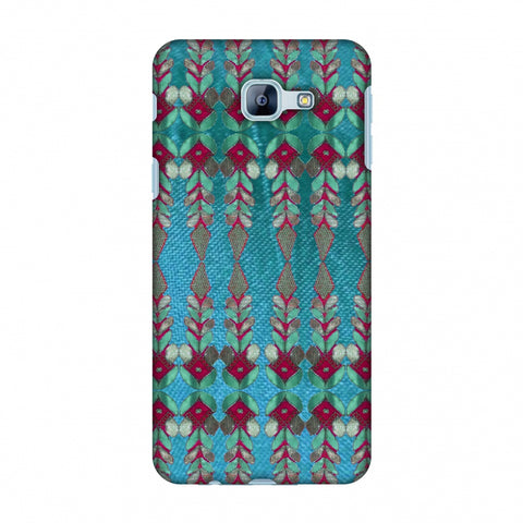 Gotapatti Borders - Teal Slim Hard Shell Case For Samsung Galaxy A8 2016