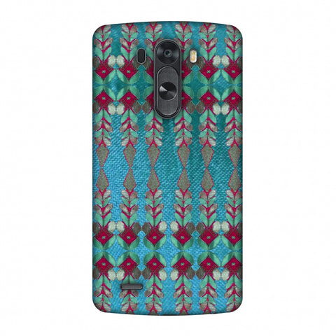 Gotapatti Borders - Teal Slim Hard Shell Case For LG G4