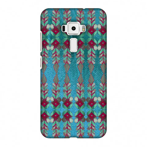 Gotapatti Borders - Teal Slim Hard Shell Case For Asus Zenfone 3 ZE520KL