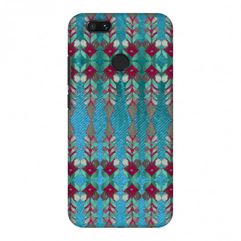 Gotapatti Borders - Teal Slim Hard Shell Case For Xiaomi MI A1-5X