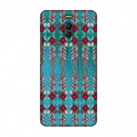 Gotapatti Borders - Teal Slim Hard Shell Case For Meizu Note 6