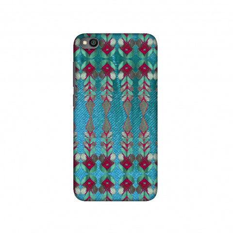 Gotapatti Borders - Teal Slim Hard Shell Case For Redmi Go