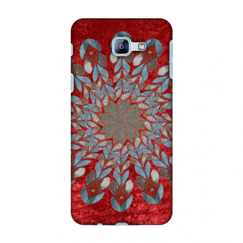 Gotapatti Florals - Rust Red Slim Hard Shell Case For Samsung Galaxy A8 2016