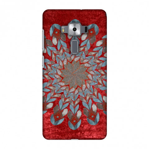 Gotapatti Florals - Rust Red Slim Hard Shell Case For Asus Zenfone 3 Deluxe ZS570KL